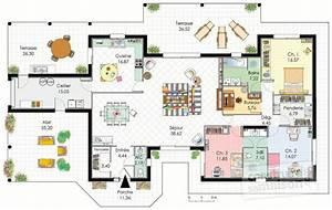 demeure de plain pied detail du plan de demeure de plain With plan maison moderne 3d 15 garage en 3d luxe decoration detail
