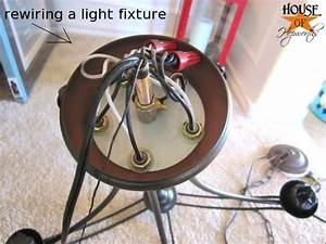 How To Rewire A Chandelier Diagram