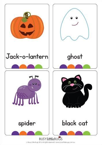 Halloween Flash Cards  Busy Little Bugs