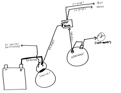 alternator starter power wiring issues