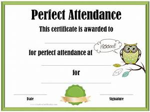 Perfect Attendance Certificate Template Perfect Attendance Award 5 Professional And High Quality Templates