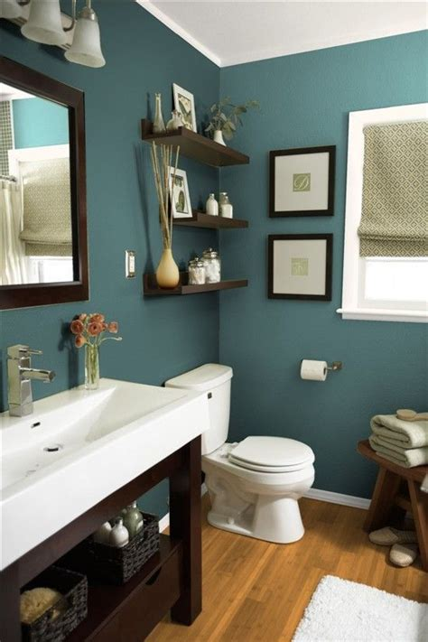 White Bathroom With Color Accents by The Wall Color With The White Sink And Wood