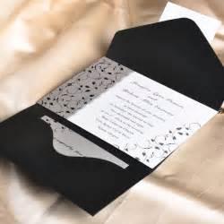 wedding pocket invitations affordable black and white pocket wedding invitation cards ewpi025 as low as 1 69