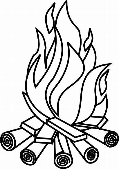 Bonfire Cartoon Clipart Clip Vector