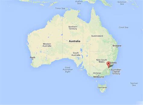 canberra  map  australia