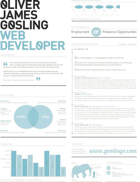 skill resume web design resumes template exle web