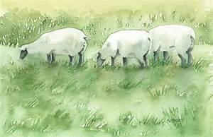 Blackfaced Sheep Painting by Corinne Aelbers