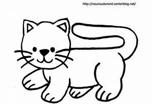 Modèle De Dessin Facile : chat coloriage gommettes en couleur ~ Melissatoandfro.com Idées de Décoration