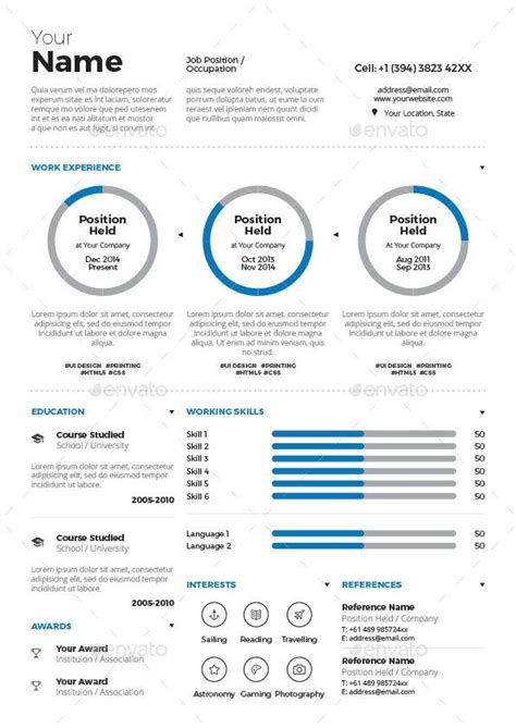 Cv Maker Word by Resume Cv Infographic Maker Resume Creative