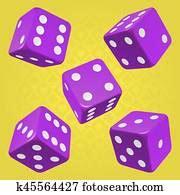 dice game danger   clipart  fotosearch
