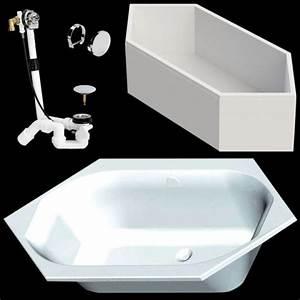 Sechseck Badewanne 190x90 : ideal standard sechseckbadewanne plus 190x90 cm aus acryl inkl tr ger u ablaufgarnitur k164401 ~ Orissabook.com Haus und Dekorationen
