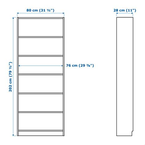 80 Inch Bookshelf by Jual Ikea Billy Rak Lemari Buku Minimalis 6 Susun Hitam