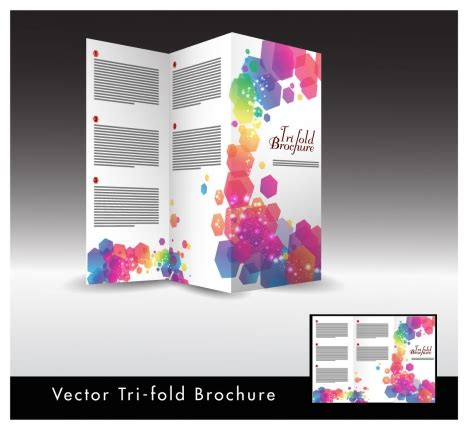 Brochure Design With Trifold Colorful Template Trifold Brochure Design With Colorful Hexagon Illustration