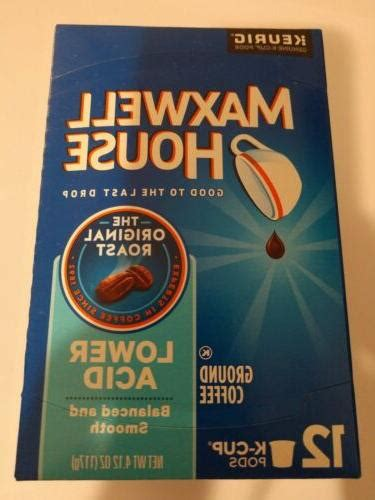 Not everyone can drink a cup of coffee and not feel the after effects of acid. Maxwell House Lower Acid Coffee K Cups Box