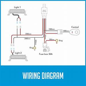 Wiring Loom Power Harness For 2x Led Work Driving Light