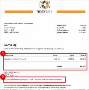 02 Rechnung : crashkurs kleinunternehmer regelung ~ Themetempest.com Abrechnung