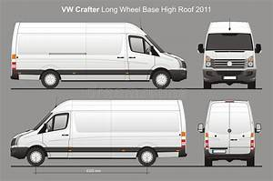 Vw Crafter Lwb Delivery Van Blueprint Editorial Stock