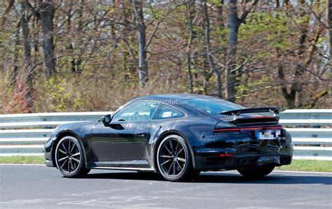 new porsche 911 turbo spyshots 2020 porsche 911 turbo shows new active rear