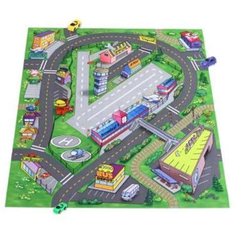 tapis de jeu pour petites voitures tapis de jeu route pour enfant et 6 petits voitures jeu de petites voitures achat prix fnac