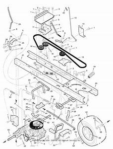 Murray Lawn Mower Model  4657x92 Motion Belt Routing Diagram