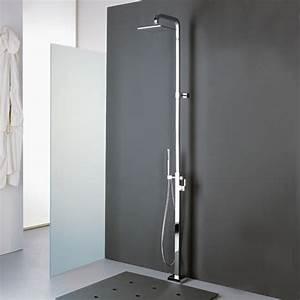 Mitigeur Sur Pied : colonne douche sur pied cubique mitigeur et pomme de ~ Edinachiropracticcenter.com Idées de Décoration
