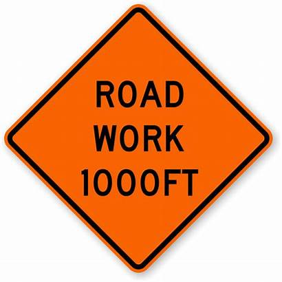 Road Ahead Sign Mile W20 Signs Construction