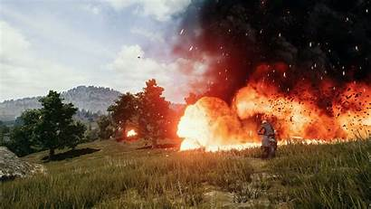 Pubg 4k Explosion Battlegrounds Playerunknown Wallpapers Background