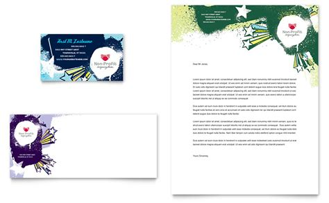 child advocates business card letterhead template word