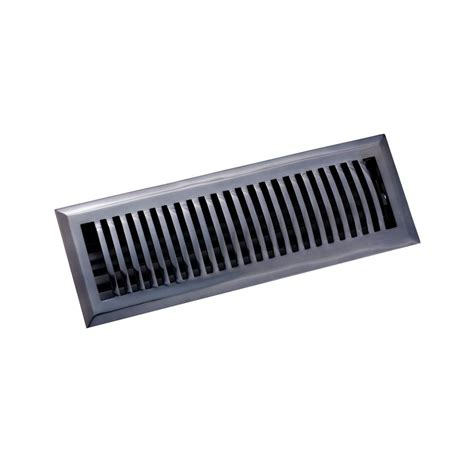 metal floor registers home depot decor grates 4 in x 14 in black steel floor register