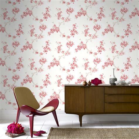 Graham & Brown Mercutio 52cmx10m Wallpaper Red & Cream