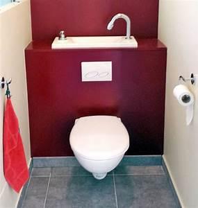 Wc Lave Main Intégré : immobilier wc suspendu avec lave main integre ~ Dailycaller-alerts.com Idées de Décoration