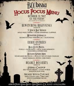 Restaurant Halloween Menu Ideas