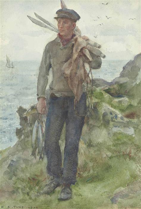 henry scott tuke ra rws    fisherman