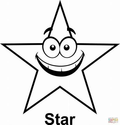 Coloring Star Stars Cartoon Pages Shape Face