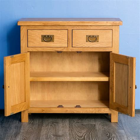 Mini Sideboards by Surrey Oak Mini Sideboard With Shelf 2 Drawer