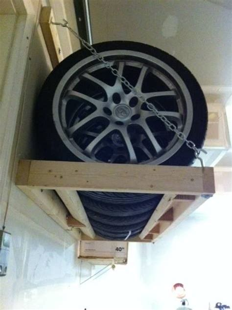 Wall Mount Tire Storage Rack