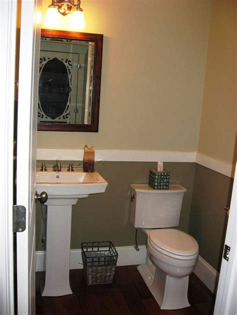 Half Bathroom Designs by Half Bath With 2 Tone Paint For The Home