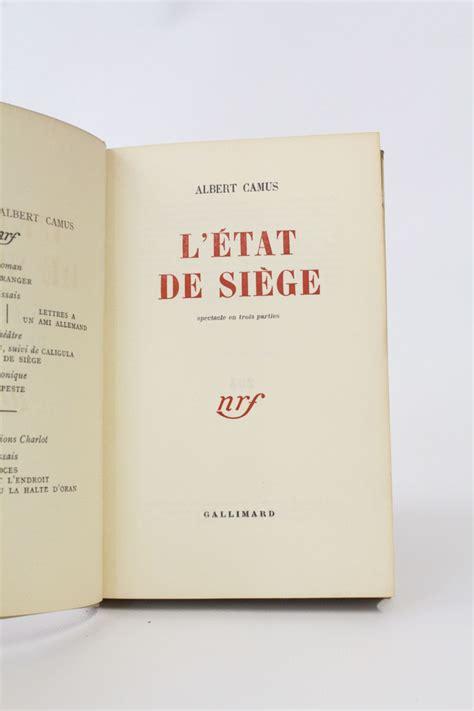 l etat de siege camus camus l 39 état de siège edition originale edition