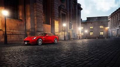 Night Cars Street Sports Ferrari Square Italy