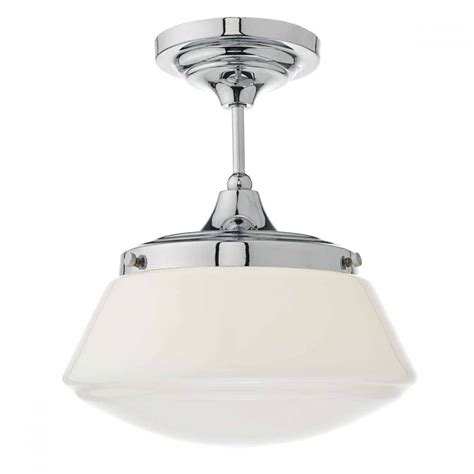 Bathroom Fixtures Uk by Modern Classic Chrome Bathroom Ceiling Light With Opal Glass