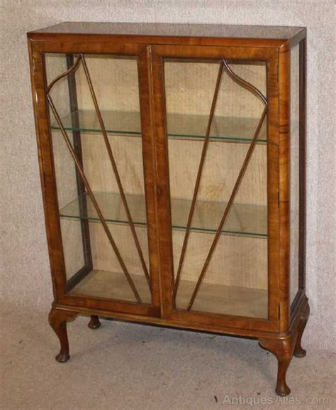 antique china cabinet styles 1940s 2 door walnut decco style china cabinet antiques atlas