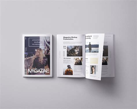 A gorgeous, modern a4 book mockup to showcase a client's one of the best free psd mockups on the list is this magazine cover design. Free Magazine PSD Mockup | Free Mockup