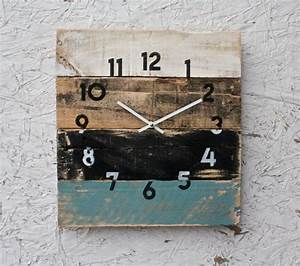 Reclaimed wall clock rustic beach house decor coastal theme
