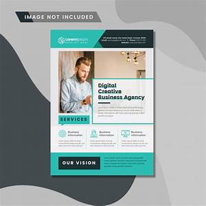 Clean Business Flyer Layout Psd File