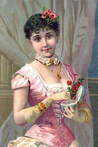 Victorian, Image, -, Fashionable, Woman, With, Gloves