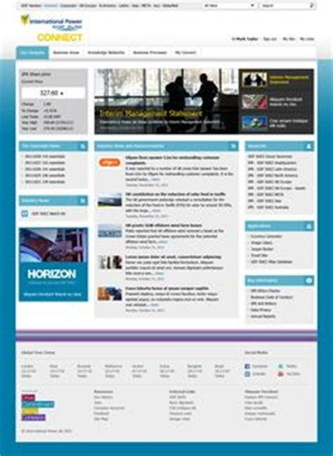 intranet homepage examples images graph design