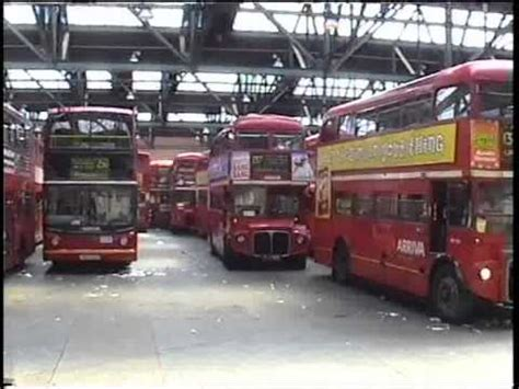 Garage Brixton routemasters on routes 137 and 159 and at brixton garage