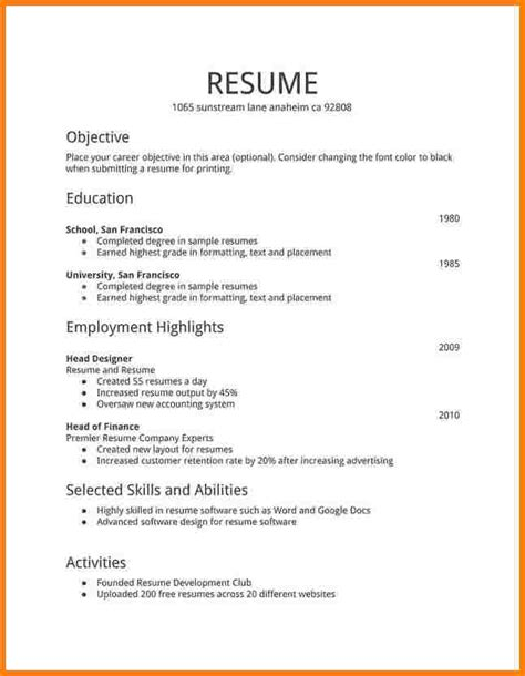 Time Resume by Time Resume Asafonggecco In Time Resume