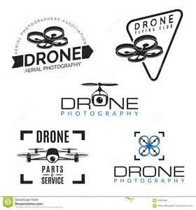 set of drone logos badges and design elements stock vector image 59867662 - Quadrocopter Design