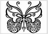 Butterfly Coloring Printable Fun Kupu Sketsa Gambar Spiral Colorear Butterflies Sheets Drawings Butter Tribal Cool Flower Mariposas Koleksi Different Google sketch template